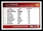 2009 Topps #288  Larry Fitzgerald  Back Thumbnail