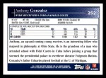 2009 Topps #252  Anthony Gonzalez  Back Thumbnail