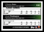 2009 Topps #328   -  Thomas Jones / Leon Washington Classic Combo Back Thumbnail