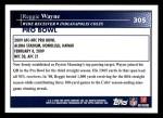 2009 Topps #305   -  Reggie Wayne Pro Bowl Back Thumbnail