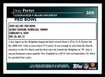 2009 Topps #309   -  Joey Porter Pro Bowl Back Thumbnail