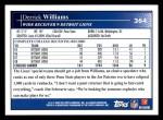2009 Topps #364  Derrick Williams  Back Thumbnail