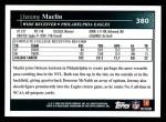 2009 Topps #380  Jeremy Maclin  Back Thumbnail