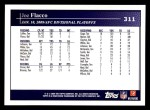 2009 Topps #311   -  Joe Flacco Postseason Highlights Back Thumbnail