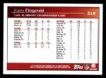 2009 Topps #319   -  Larry Fitzgerald Postseason Highlights Back Thumbnail