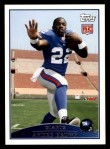 2009 Topps #373  Andre Brown  Front Thumbnail