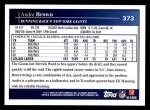 2009 Topps #373  Andre Brown  Back Thumbnail