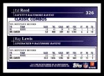 2009 Topps #326   -  Ed Reed / Ray Lewis Classic Combo Back Thumbnail