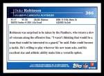 2009 Topps #366  Duke Robinson  Back Thumbnail