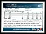 2009 Topps #379  Jarett Dillard  Back Thumbnail
