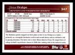2009 Topps #347  Brian Orakpo  Back Thumbnail