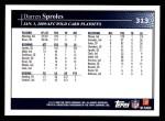 2009 Topps #313   -  Darren Sproles Postseason Highlights Back Thumbnail