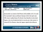 2009 Topps #368  Eugene Monroe  Back Thumbnail