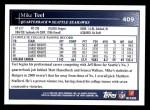 2009 Topps #409  Mike Teel  Back Thumbnail