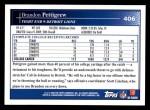 2009 Topps #406  Brandon Pettigrew  Back Thumbnail
