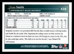 2009 Topps #428  Sean Smith  Back Thumbnail