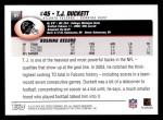 2004 Topps #81  T.J. Duckett  Back Thumbnail