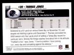 2004 Topps #97  Thomas Jones  Back Thumbnail