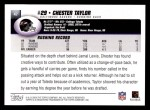 2004 Topps #47  Chester Taylor  Back Thumbnail
