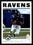 2004 Topps #47  Chester Taylor  Front Thumbnail