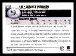2004 Topps #66  Terence Newman  Back Thumbnail