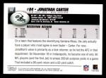 2004 Topps #84  Jonathan Carter  Back Thumbnail