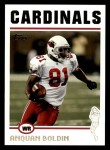 2004 Topps #20  Anquan Boldin  Front Thumbnail