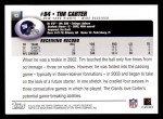 2004 Topps #93  Tim Carter  Back Thumbnail