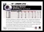 2004 Topps #9  Leonard Little  Back Thumbnail