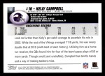 2004 Topps #92  Kelly Campbell  Back Thumbnail