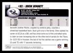 2004 Topps #73  Drew Bennett  Back Thumbnail