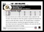 2004 Topps #164  Boo Williams  Back Thumbnail
