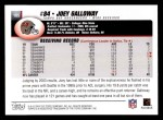2004 Topps #105  Joey Galloway  Back Thumbnail