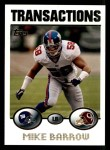 2004 Topps #178  Mike Barrow  Front Thumbnail