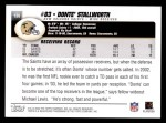 2004 Topps #136  Donte' Stallworth  Back Thumbnail