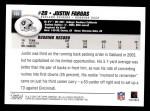 2004 Topps #109  Justin Fargas  Back Thumbnail