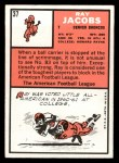 1966 Topps #37  Ray Jacobs  Back Thumbnail