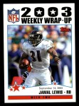 2004 Topps #292   -  Jamal Lewis Weekly Wrap-Up Front Thumbnail