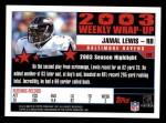 2004 Topps #292   -  Jamal Lewis Weekly Wrap-Up Back Thumbnail