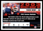 2004 Topps #297   -  Travis Henry Weekly Wrap-Up Back Thumbnail