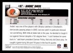 2004 Topps #283  Andre' Davis  Back Thumbnail
