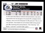 2004 Topps #285  Joey Harrington  Back Thumbnail
