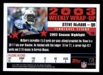 2004 Topps #296   -  Steve McNair Weekly Wrap-Up Back Thumbnail