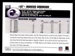 2004 Topps #259  Marcus Robinson  Back Thumbnail