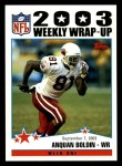 2004 Topps #291   -  Anquan Boldin Weekly Wrap-Up Front Thumbnail
