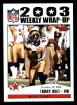 2004 Topps #298   -  Torry Holt Weekly Wrap-Up Front Thumbnail