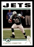 2004 Topps #256  Curtis Martin  Front Thumbnail
