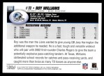2004 Topps #320  Roy Williams  Back Thumbnail