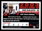 2004 Topps #302   -  Deuce McAllister Weekly Wrap-Up Back Thumbnail