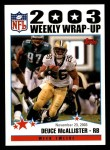 2004 Topps #302   -  Deuce McAllister Weekly Wrap-Up Front Thumbnail